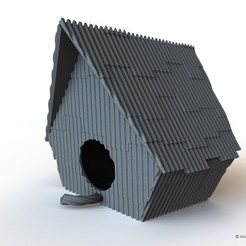 Download free 3D printing templates Ramshackle Birdhouse, Fayeya