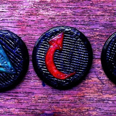 Download free 3D printing files Infinity the Game order markers, Fayeya
