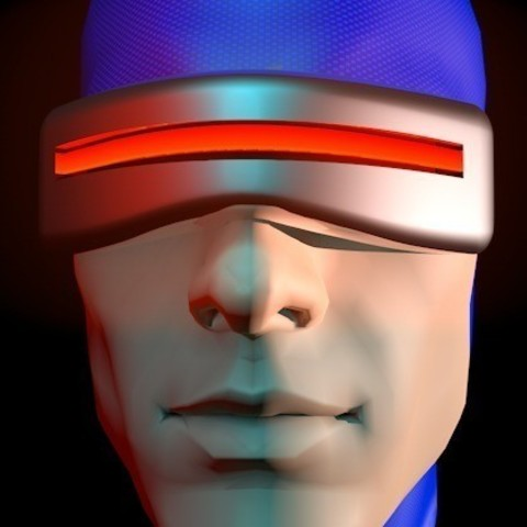 Free 3D model Cyclops Visor, Fayeya