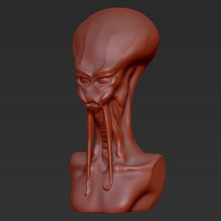 Descargar STL gratis Busto Alienígena, Fayeya