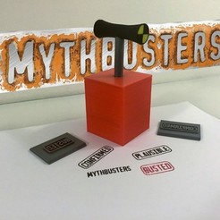 Free 3D printer files Mythbusters- Detonator stamper!, Fayeya