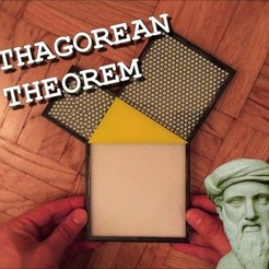 Download free 3D printing templates Pythagorean Theorem - Marble, Fayeya