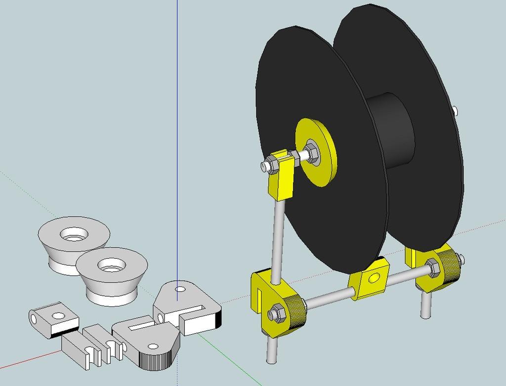 72dd3a7d749a89fbdfa6ccf8aa6c75b1_display_large.jpg Download free STL file Graber i3 filament spool for bowden • 3D printing model, Fayeya