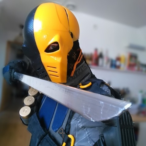 Download free 3D model Deathstroke's mask + cosplay parts, Fayeya