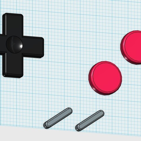 model_display_large.jpg Télécharger fichier STL gratuit Bouton Gameboy Aimant • Design pour imprimante 3D, Fayeya