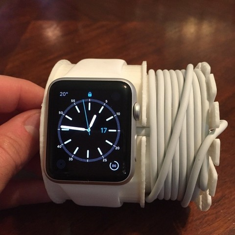 Free 3D printer designs Apple Watch Charging Wall Mount, Witorgor