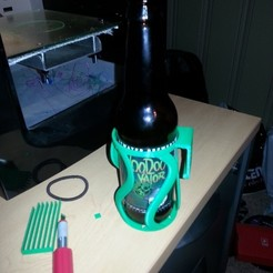 Download free 3D printer designs Beer Bottle Holster, Witorgor
