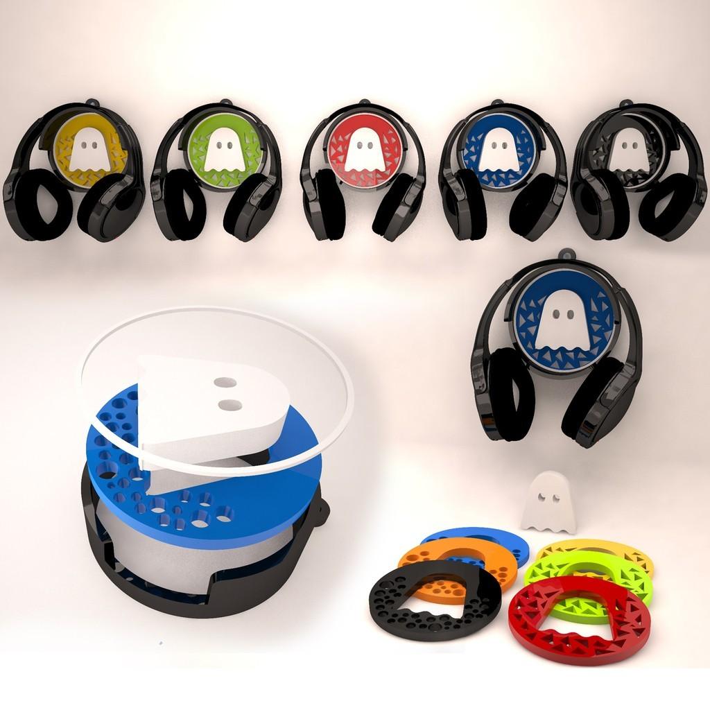 Headphones_wallholder_display_large.jpg Télécharger fichier STL gratuit Support mural pour casque d'écoute • Objet pour imprimante 3D, Witorgor