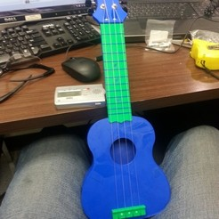 Download free STL Custom 3d printed Ukulele, Witorgor