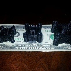 Free 3D printer model Four Tower Castle with Keep, Witorgor