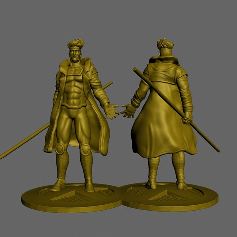 Download 3D printer templates x-men gambit, pasavo