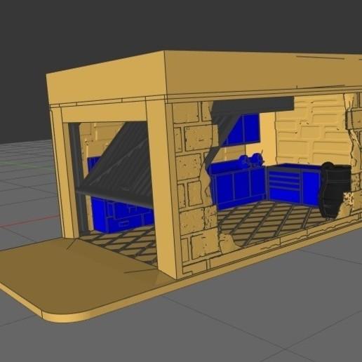 Télécharger objet 3D Micro Diorama Garage - 1/64, rafaelnrlino