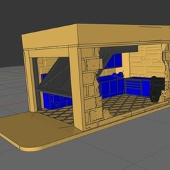Download 3D printer designs Micro Diorama Garage - 1/64, rafaelnrlino