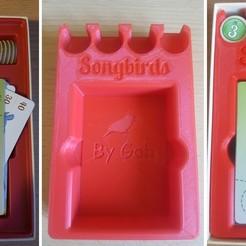 Télécharger fichier imprimante 3D gratuit incrustation d'oiseaux chanteurs, gohandal