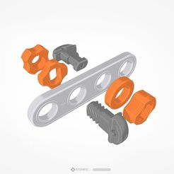 Download free 3D printer files STEMFIE construction set sample parts, Stemfie3D