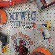 STL files Nerf Blaster Triad EX-3 Pegboard mount, MFWIC3D
