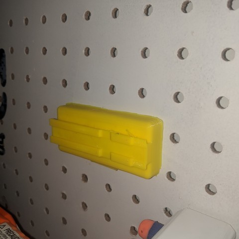 Download STL file Nerf Rail Accessories mount for pegboard, MFWIC3D