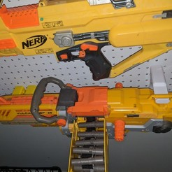 3D printer files Nerf Vulcan EBF-25 Pegboard Mount, MFWIC3D