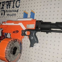 3D print files Pegboard mount for Nerf Blaster, MFWIC3D