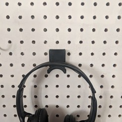 IMG_20190113_150414.jpg Download free STL file Pegboard mount Headphones or Ear protection • 3D print template, MFWIC3D