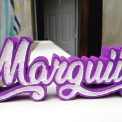 1.png Télécharger fichier OBJ Nom Marguiie Lettrage • Design pour imprimante 3D, andres07