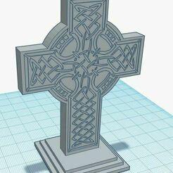 Capture.JPG Télécharger fichier STL gratuit Statue gravée d'une croix celtique • Plan à imprimer en 3D, jcagle0810