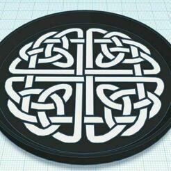 Capture.JPG Télécharger fichier STL gratuit Nœud celtique 2 sous-verre bicolore • Design à imprimer en 3D, jcagle0810