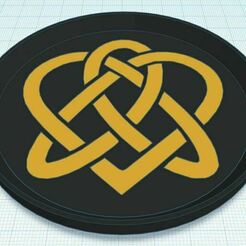 Capture.JPG Télécharger fichier STL gratuit Nœud celtique 3 sous-verre bicolore • Plan pour impression 3D, jcagle0810