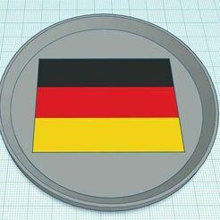 Capture.JPG Télécharger fichier STL gratuit Dessous de verre du drapeau allemand • Objet pour impression 3D, jcagle0810