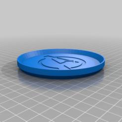 AvengersLogoCoaster.png Télécharger fichier STL gratuit Dessous de verre avec le logo des vengeurs • Objet à imprimer en 3D, jcagle0810