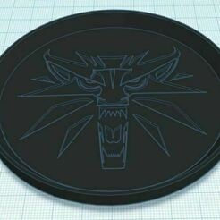 Capture.JPG Download free STL file The Witcher Coaster (non-Netflix logo) Stackable • 3D printing model, jcagle0810