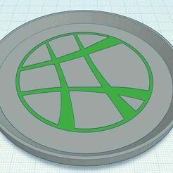 Capture.JPG Télécharger fichier STL gratuit Docteur Etrange Dessous de verre bicolore • Objet imprimable en 3D, jcagle0810