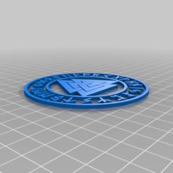 Valknut.png Télécharger fichier STL gratuit Sous-verre nordique bicolore de Valknut • Objet à imprimer en 3D, jcagle0810