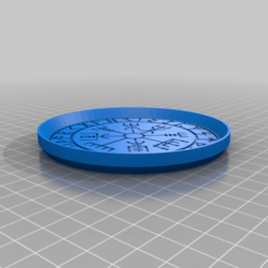 VikingCompassCoaster.png Télécharger fichier STL gratuit Dessous de verre Viking Compass • Modèle pour imprimante 3D, jcagle0810