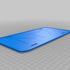 MassEffectN7LicPlateBlack.png Download free STL file Mass Effect N7 License Plate Tri Color • 3D printer model, jcagle0810