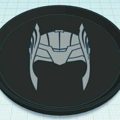 Capture.JPG Download free STL file Thor Helmet Coaster Dual Color • 3D print template, jcagle0810