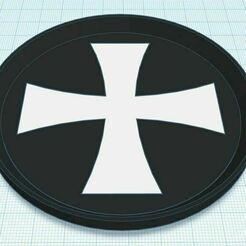 Capture.JPG Télécharger fichier STL gratuit Dessous de verre bicolore à la croix de Malte • Modèle à imprimer en 3D, jcagle0810
