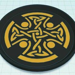 Capture.JPG Télécharger fichier STL gratuit Croix celtique 3 sous-verre bicolore • Objet imprimable en 3D, jcagle0810