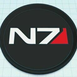 Capture.JPG Download free STL file Mass Effect N7 Coaster Tri Color Stackable • Object to 3D print, jcagle0810