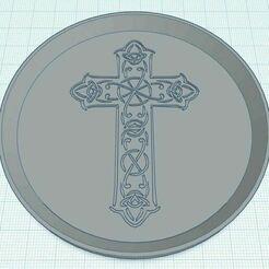 Capture.JPG Télécharger fichier STL gratuit Croix celtique 2 Sous-verre • Objet imprimable en 3D, jcagle0810