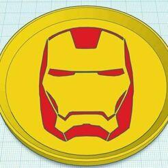 Capture.JPG Download free STL file Iron Man Dual Color Coaster Stackable • 3D print model, jcagle0810