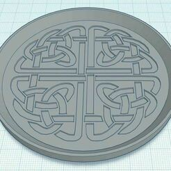 Capture.JPG Télécharger fichier STL gratuit Sous-verre Celtic Knot 2 • Objet pour imprimante 3D, jcagle0810