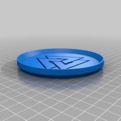Valknut2Coaster.png Télécharger fichier STL gratuit Sous-verre du symbole 2 de la noix de Valknut • Modèle à imprimer en 3D, jcagle0810