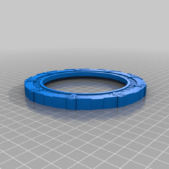 StargateCoasterSilver.png Télécharger fichier STL gratuit Dessous de verre multicolore Stargate Coasters • Modèle pour imprimante 3D, jcagle0810