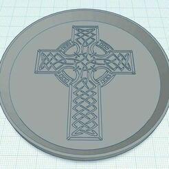 Capture.JPG Télécharger fichier STL gratuit Croix celtique 1 Sous-verre • Objet pour imprimante 3D, jcagle0810