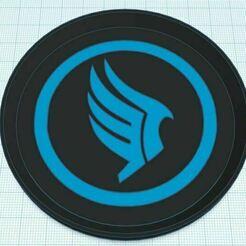 Capture.JPG Download free STL file Mass Effect Paragon Dual Color Coaster Stackable • 3D print design, jcagle0810