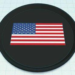 Capture.JPG Télécharger fichier STL gratuit Dessous de verre multicolore pour le drapeau des États-Unis • Plan à imprimer en 3D, jcagle0810