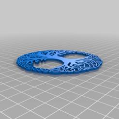 Yggdrasil.png Télécharger fichier STL gratuit Yggdrasil - Sous-verre de l'Arbre de vie bicolore • Modèle imprimable en 3D, jcagle0810