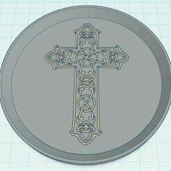 Capture.JPG Télécharger fichier STL gratuit Celtic Cross Coaster 2 Dual Color • Design imprimable en 3D, jcagle0810