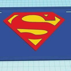 SupermanTriColorLicensePlate.JPG Download free STL file Superman Tri Color License Plate • Template to 3D print, jcagle0810